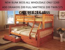 NEW TWIN FULL BUNK BED SALE in 29 Palms, California