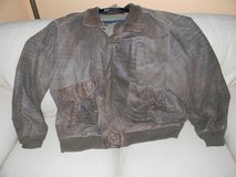 Mens Brown Distressed 3XLT Bomber Jacket in Glendale Heights, Illinois