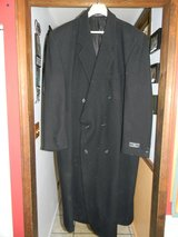 Mens 3XLT Alexander Lloyd Black Business Wool Trench Winter Coat in Naperville, Illinois