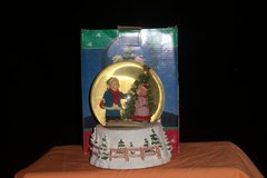 Scenic Holiday Snowglobe Boy/Girl by the Tree (T=35) in Fort Campbell, Kentucky