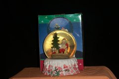 Scenic Holiday Snowglobe Santa by the Tree (T=35) in Fort Campbell, Kentucky