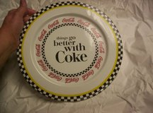 """THINGS GO BETTER WITH COKE"" PLATE & PLATTER SET in Camp Lejeune, North Carolina"
